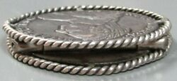 1780 Silver Austrian Custom Coin Art 2 Coin Hindged Paper / Page Clip