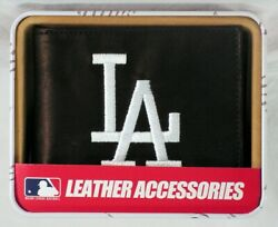 Los Angeles Dodgers Embroidered Leather Billfold Wallet NEW in Gift Tin $24.90