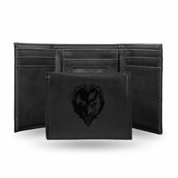 Baltimore Ravens Laser Engraved Black Synthetic Leather Trifold Wallet