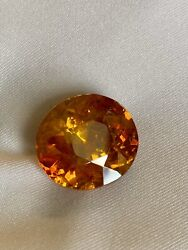 32cts Natural Round Orange Sphalerite Spain Loose Gemstone With Free Shipping.