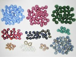 664pc Vintage Czech Glass Opal Star Sapphire Cabs Setting Lot- Jewelry Supply