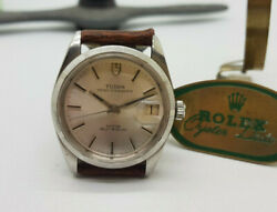 Vintage Rolex Tudor Oysterdate Silver Dial Auto Manand039s Watch