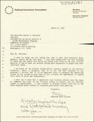 William J. Bill Clinton - Typed Letter Signed 03/11/1987