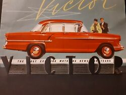 1950s Vauxhall Victor Name Piece And Poster