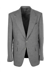 New Tom Ford Shelton Gray Flannel Suit Size 50 / 40r U.s. In Wool