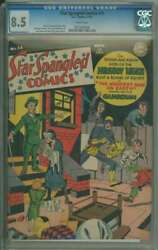 Star Spangled Comics 14 Cgc 8.5 White Pages