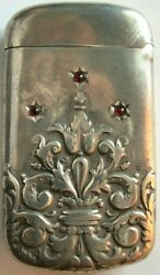 003-early American Vintage Silver Match Safe