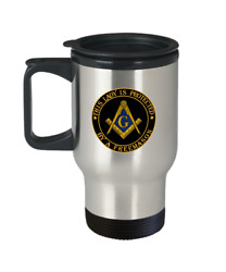 This Lady Is Protected By A Freemason - Masonic Wife Daughter Travel Mug Gift