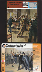 Assassination Of President James A. Garfield Story Of America History 2 Cards