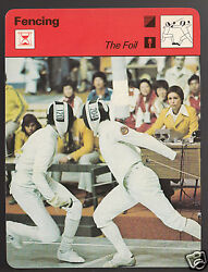 Fabbio Dal Zotto Fencing 1976 Olympic Gold Medal 1978 Sportscaster Card 20-17
