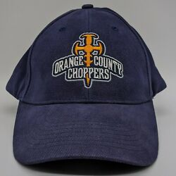 Orange County Choppers Embroidered Spellout Cross Logo Hat Strapback Cap Blue