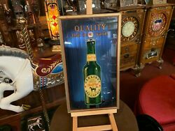 1934 Carling Red Cap Ale Beer Reverse Glass Advertisement Watch Video
