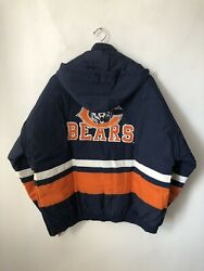 Vintage Chicago Bears Apex One Parka Jacket Coat Mens Size Xl Deadstock Nwt 90s