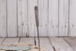 Vintage Metal Letter Opener With Ornaments 1960s Collectible