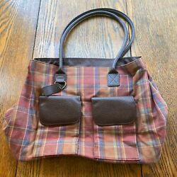 Longaberger 25th Bee Plaid Tote/purse New With No Tags