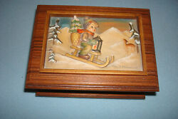 Vtg Hummel Goebel Anry Collectible Ride Into Christmas First Edition Music Box