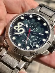 Pramzius Berlin Wall Blue Marble Etched Limited Edition Swiss Automatic Upgrade