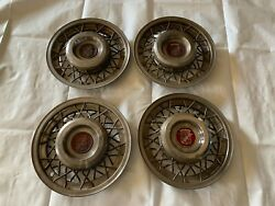 1950-1954 Cadillac Wire Wheel Hubcaps Covers Hub Caps Spoke Chrome Center Caps