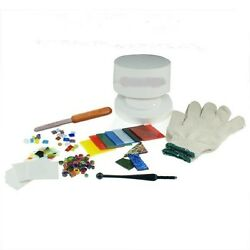 Stained Glass Fusing Supplies Professional Microwave Kiln Kit 10 Piece Set New