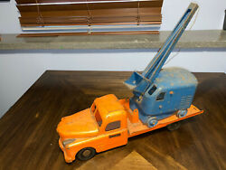 Vintage Structo Toy Truck Tow Wrecker Flatbed With Shovel