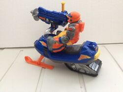 Vintage 1998-2005 Fisher Price Rescue Heroes Snowmobile And Figure