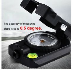 Lensatic Orienteering Navigation Compass Survival Army Military Azimuth Handheld