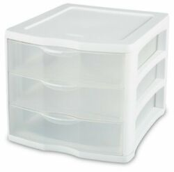 Sterilite ClearView Portable 3 Storage Drawer Organizer (Open Box) (8 Pack)