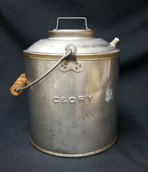Vintage C And O Railroad Large Water Can Thermos
