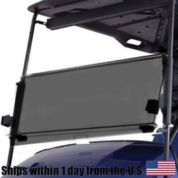 Tinted Acrylic Foldable Flip Windshield For Yamaha G22 Gmax Golf Cart 1995 And Up