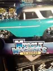Muscle Machines 55 Nomad Wagon Turquoise 1/18 Scale