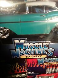 Muscle Machines 57 Chevy Turquoise 1/18 Scale