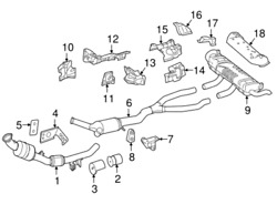 New Genuine Mercedes-benz Catalytic Converter Sys. 1664909236 Oem