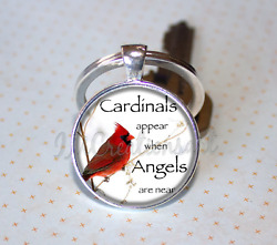 Cardinals Appears When Angels are Near Keychain Sympathy KEY RING $11.72