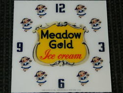 New15 Square Meadow Gold Girls Glass Face For Pam Clock