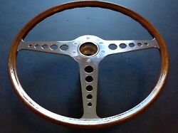 Jaguar E-type Steering Wheel Original And Professionally Refinished Series 1and2