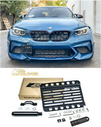 Eos For 16-up Bmw F87 M2 Pdc | Front Tow Hook License Plate Mount Bracket Holder