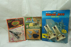 Vintage Diecast Airplanes Toy Lot Road Champs Flyers Kenner Mega Force 1980s New