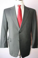 Brooks Brothers Gray Nailhead Wool Two Button Mens Suit Size 41 Regular 34 29