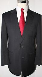 Brooks Brothers Gray Solid Wool Two Button Suit Size 41 Long 34 30 Pants 41l
