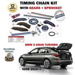 For Bmw 5 Series 520d Gran Turismo 184bhp 2013- Timing Cam Chain Kit + Gears