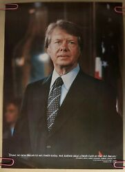 Vintage Poster Jimmy Carter Quote Pinup President Political Politics Usa America