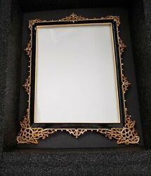 Rare Large Jay Strongwater 8-1/2x11 Frame W/ Crystals In Box