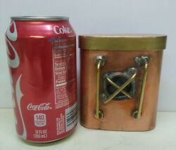 Vintage Hand Made Copper And Brass Stash Container, Cigarettes, Tobacco Pipe,