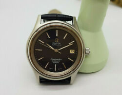 Vintage Omega Seamaster Cosmic 2000 Black Dial Date Automatic Manand039s Watch