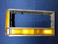 1980-1987 Ford Crown Victoria Right Turn Signal And Headlight Trim Bezel Oem Used