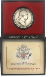 Washington Before Boston Pewter Medal America's First Medals Us Mint W/case