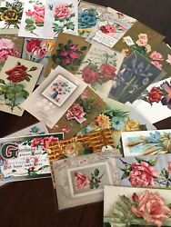 Lot Of 25 Vintage Early 1900andrsquos Postcards Antique-in Sleevesfree Shipping