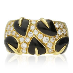Onyx And Diamond Cluster Ring. By Arfan Paris