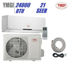 Ymgi 24000 Btu Ductless Mini Single Zone Split Air Conditioner 21 Seer Wall Jts