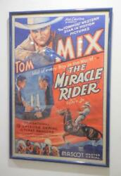 The Miracle Rider Framed Original Vintage Movie Poster Western Tom Mix 1935